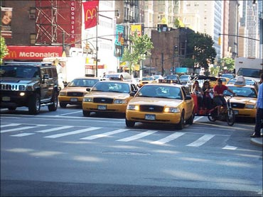 New York City traffic.
