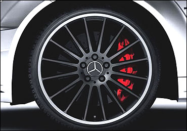 The wheel of new Mercedes C-Class.