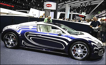 The Bugatti Veyron L'Or Blanc.