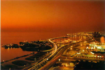 Dawn breaks over Jeddah.