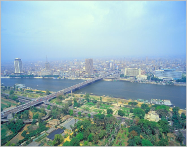 An aerial view of Cairo.