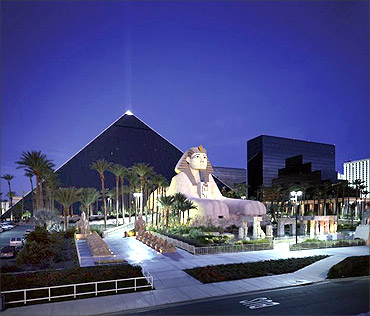 Luxor Hotel and Casino.