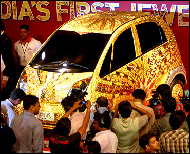 Ratan Tata unveils the Rs 22-crore Nano