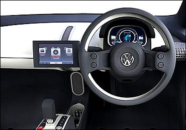 Dashboard of Volkswagen Up!