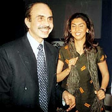 Adi Godrej with his daughter Tanya Dubash