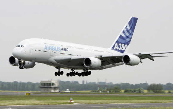 A380 will soon start flying in and out of India.