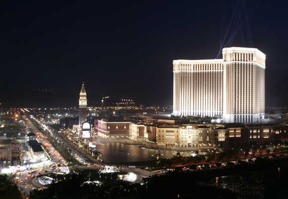 The Venetian is seen during the opening ceremony in Macau.