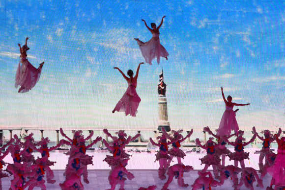 Artists perform during the opening ceremony of Harbin 24th Winter Universiade in China.
