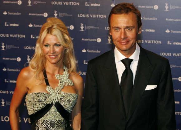 Ernesto Bertarelli, right, and his wife Kirsty.