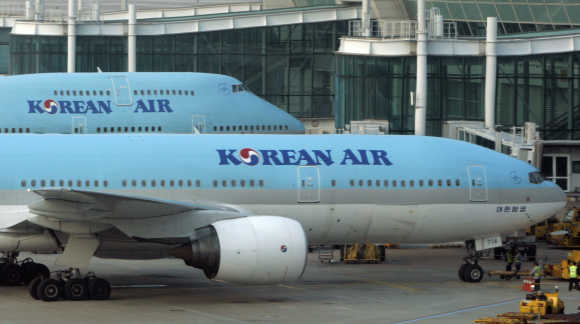 Korean Air's airplanes are seen at Incheon International airport.