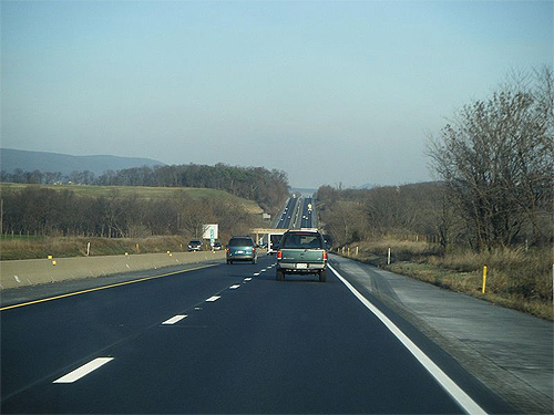 Eastbound Interstate 78/US Route 22.