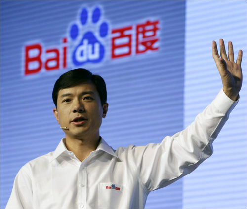Robin Li, founder and chief executive of Baidu.