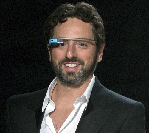 Google co-founder Sergey Brin walks the runway.