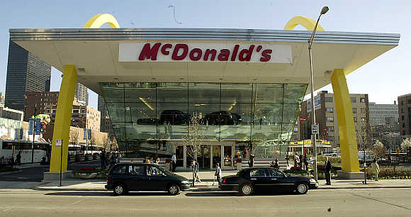 A McDonald's restaurant in Chicago.