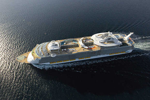 The world's largest cruise liner, the MS Allure of the Seas.