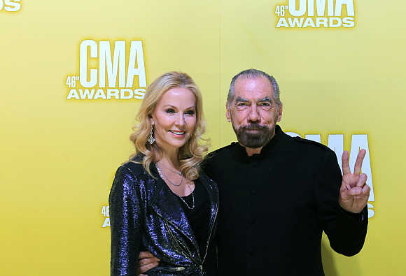 John Paul DeJoria with his wife Eloise in Nashville, Tennessee, United States.