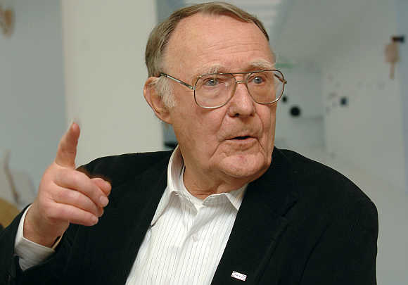Ingvar Kamprad, founder of furniture retail chain IKEA.