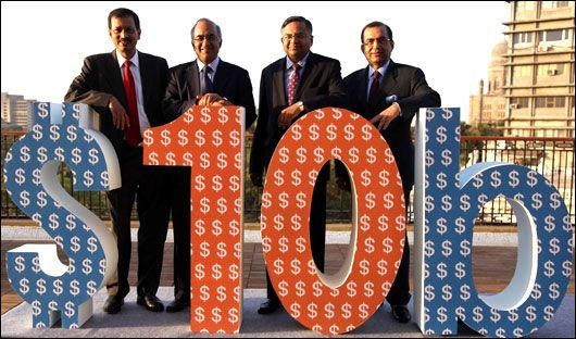 Under Ratan Tata's leadership, TCS became the largest IT company in the country.