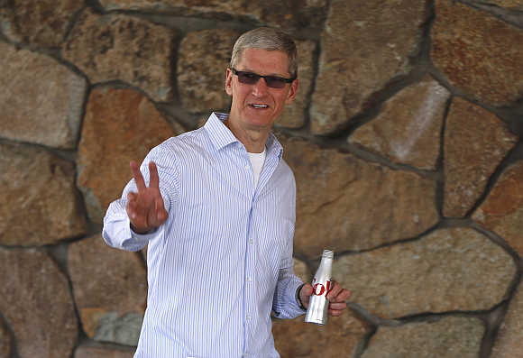 Apple CEO Tim Cook in Sun Valley, Idaho, United States.