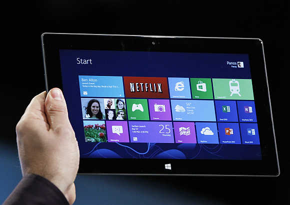 Microsoft tablet PC Surface.