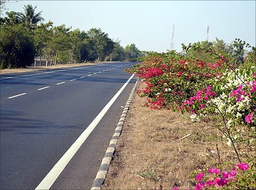 A highway in Karnataka.