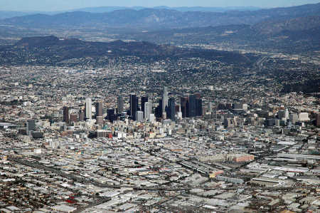 General government debt in the US is $12.8 trillion. A view of Los Angeles.