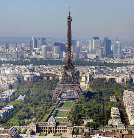 Unemployment rate in France is 9.9 per cent. A view of Paris.