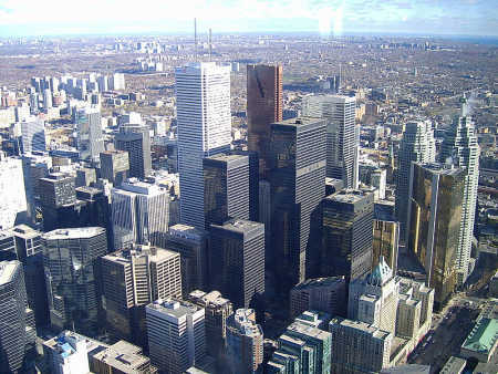 Low prices have encouraged farmers to change to more profitable crops. A view of Toronto.