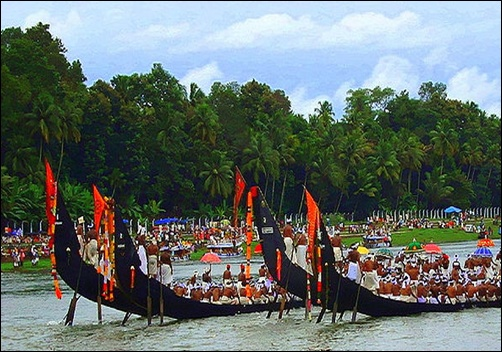 Boat race in Kerala.