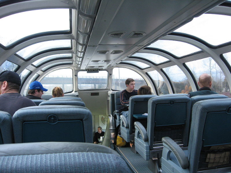 The main delight is exclusive access to the great dome cars for seeing the sites day or night.