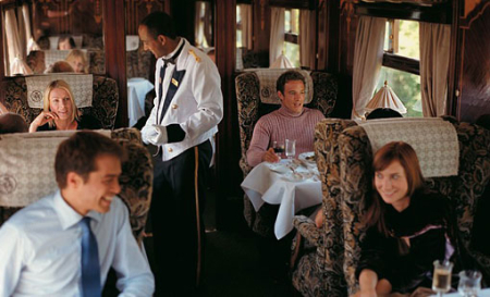 British Pullman is a luxury, vintage day train.