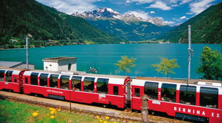 The train also passes along and through the World Heritage Site.