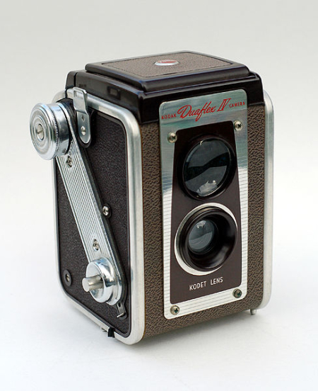 Inexpensive and popular, the Duaflex cameras (models I through IV) were manufactured from 1947-1960.