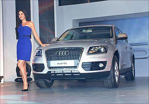Katrina Kaif with the Audi Q5.