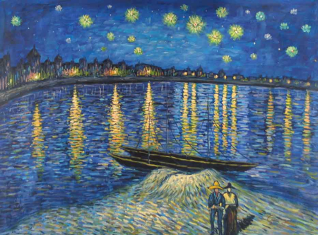 Vincent Van Gogh's Starry Night Over the Rhone.