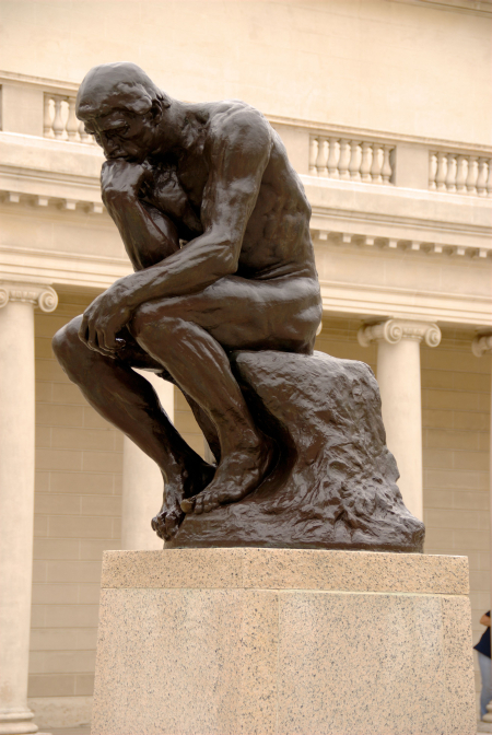 Auguste Rodin's The Thinker.