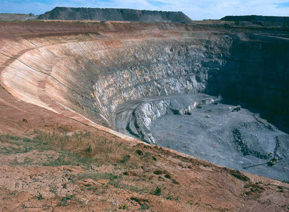 A view of a copper-gold mine in Central West New South Wales.