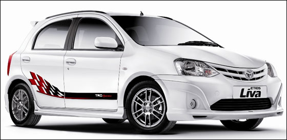 Toyota Etios Liva TRD Sportivo in India now