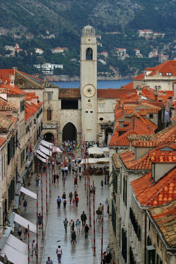 A view of the town of Dubrovnik, Croatia's most popular Adriatic destination.