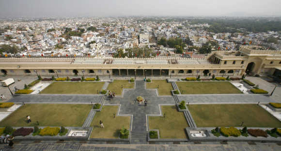 A general view of the City Palace in Udaipur.