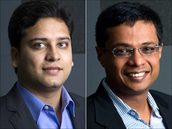 Binny Bansal and Sachin Bansal.