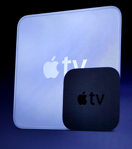 Apple Chief Executive Steve Jobs talking about Apple TV