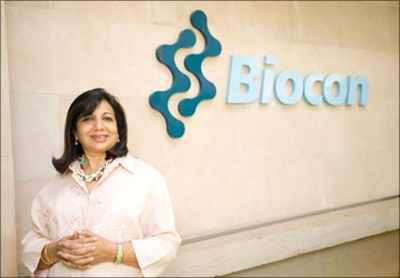 Biocon founder Kiran Mazumdar-Shaw also features on the list