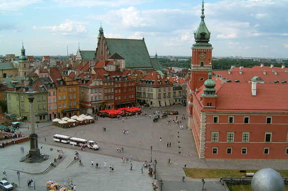 A view of Warsaw.