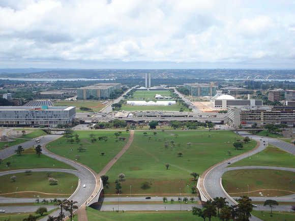 A view of Brasilia.