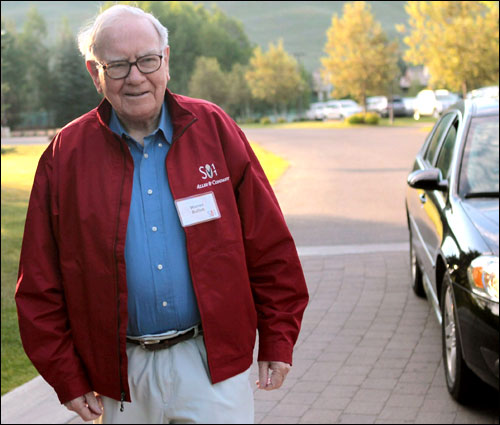 Warren Buffett, chairman of Berkshire Hathaway, attends the Allen & Company Sun Valley Conference.