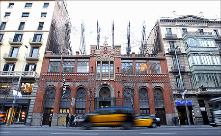 General view of Antoni Tapies Foundation building in central Barcelona.