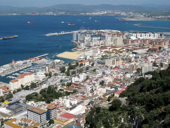A view of Gibraltar.