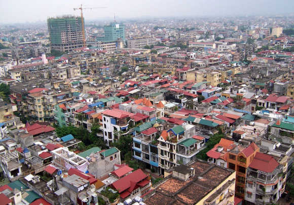 A view of Hanoi.