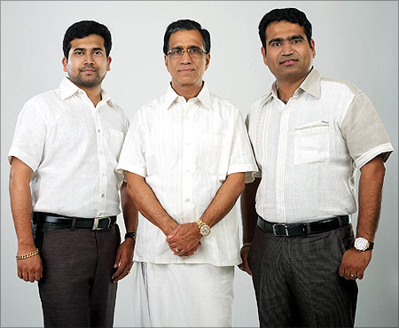 Kalyanaraman with his sons.